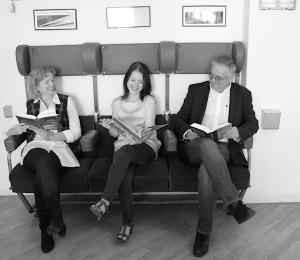 v. li. n. re.: Martina Kuscheck, Sophie Schultheis, Gerd Rumler
